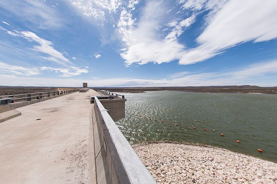 A view from the top of the dam on Brantley Lake. Visitors attending the 30th anniversary on Saturday will be allowed to walk on the top of the dam.