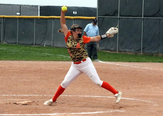Artesia's Rylee Crandall pitches against Silver. In her 14 inning of work she didn't allow a single run.