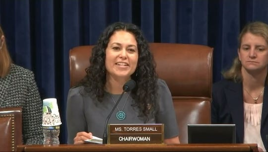 Congresswoman Xotchilt Torres Small May 16 at a meeting of the Department of Homeland Security.