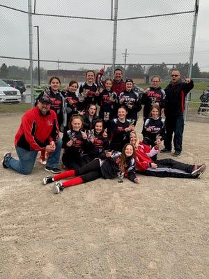 The Livonia Storm 11U softball team won the 2019 Northville Early Bird Tournament.
