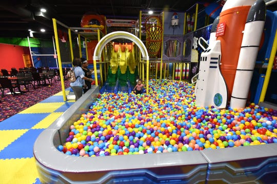 Yoyo's features lots of areas for kids to climb around in and on at its Westland location.