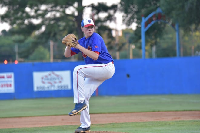 Pine Forest pitcher TK Roby hurled 13 strikeouts to help the Eagles advance in the FHSAA playoffs.