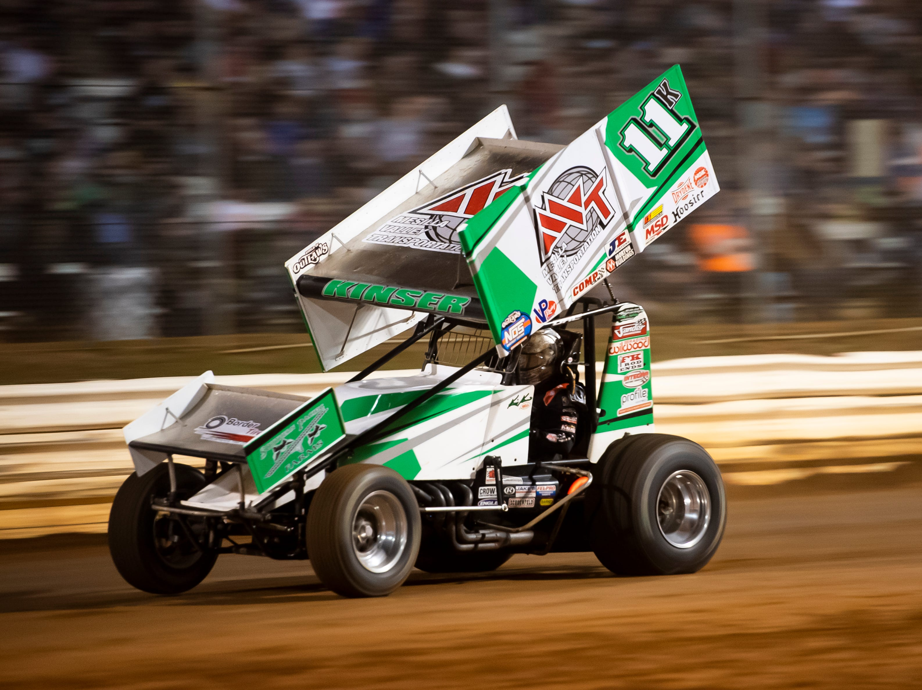 Kraig Kinser races in the number 11K car during the World of Outlaws Gettysburg Clash at Lincoln Speedway in Abbottstown on Wednesday, May 15, 2019.