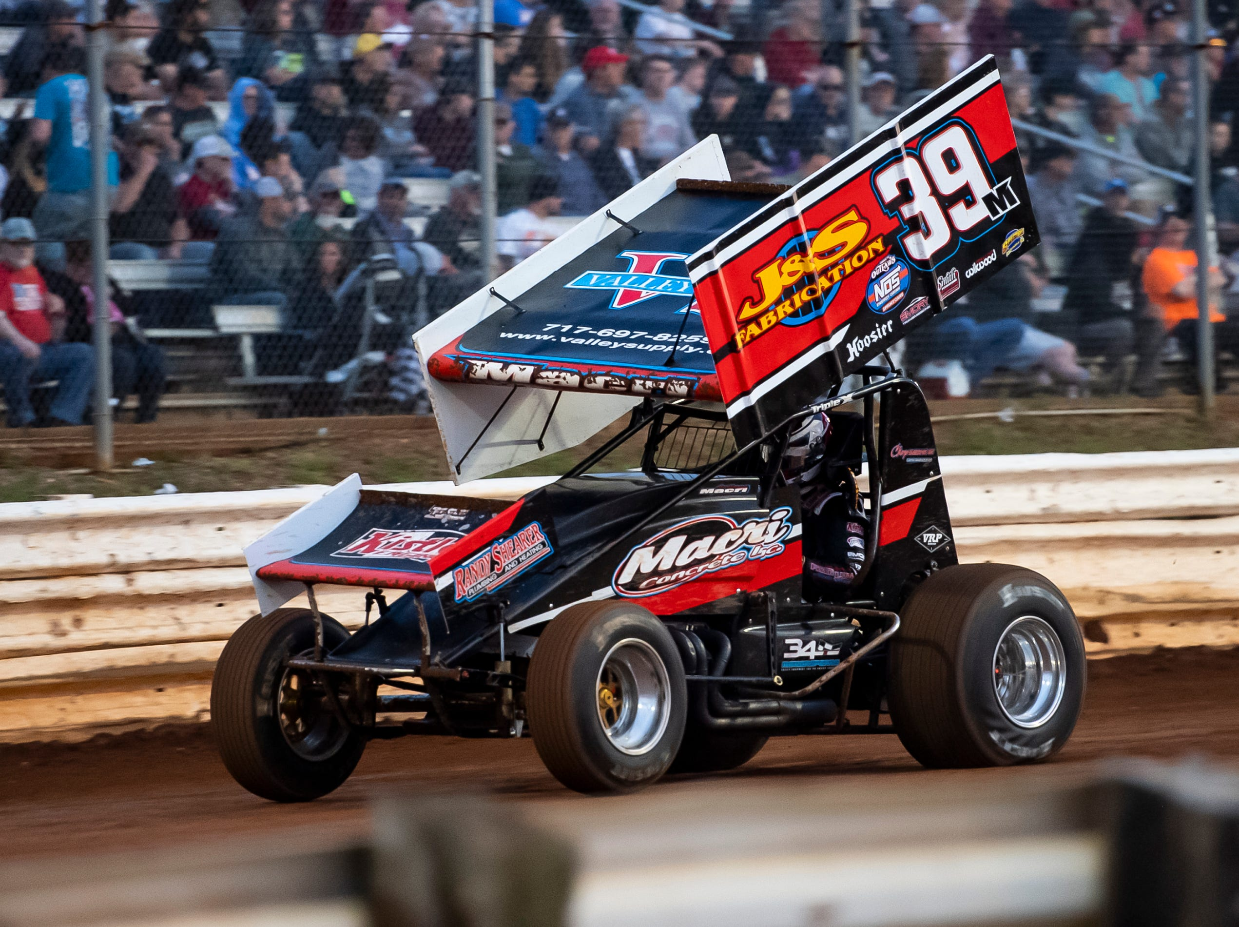 Anthony Marci races in the number 39M car during the World of Outlaws Gettysburg Clash at Lincoln Speedway in Abbottstown on Wednesday, May 15, 2019.