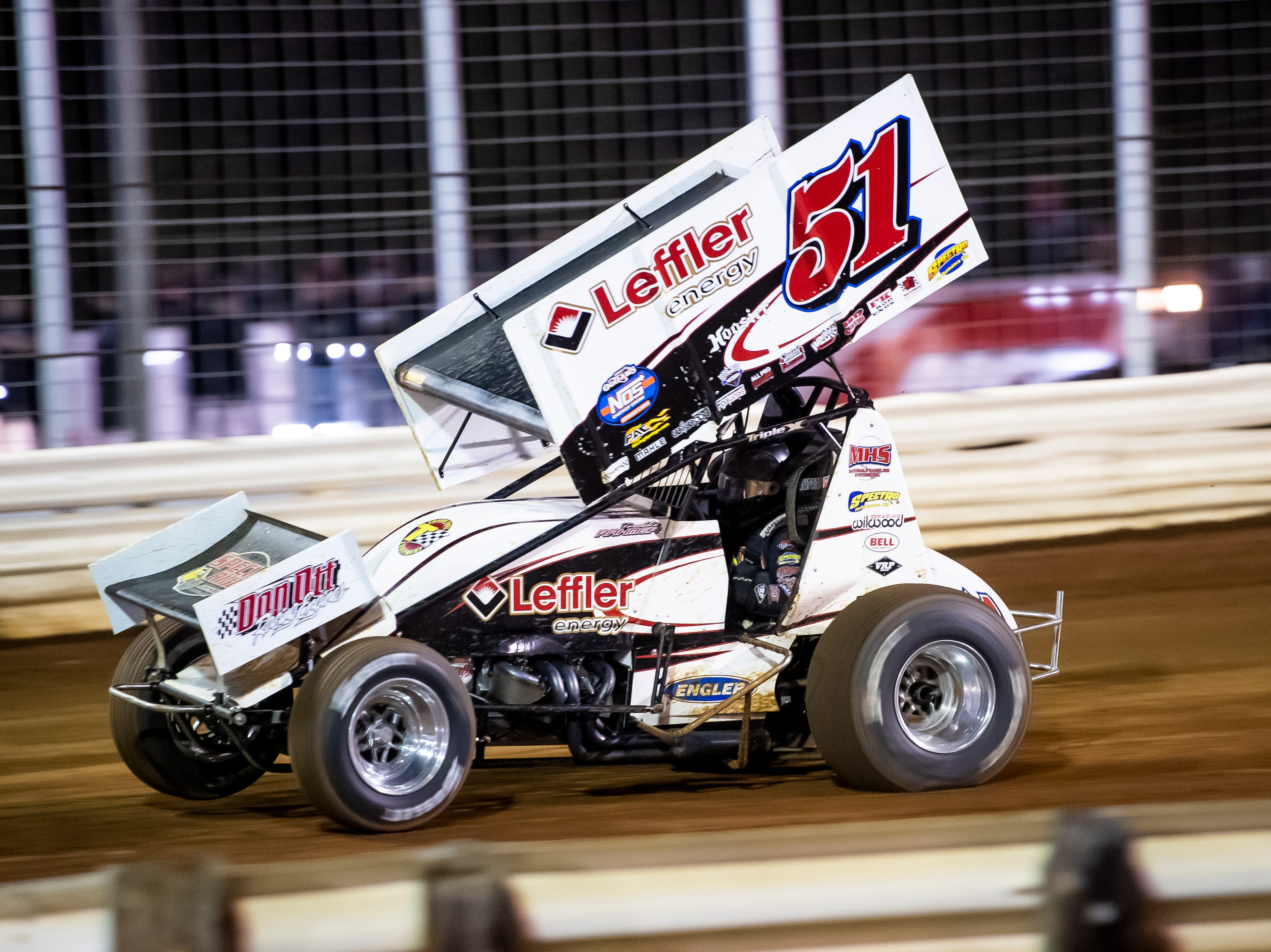 Freddie Rahmer races the number 51 car in the Last Chance Showdown during the World of Outlaws Gettysburg Clash at Lincoln Speedway in Abbottstown on Wednesday, May 15, 2019.
