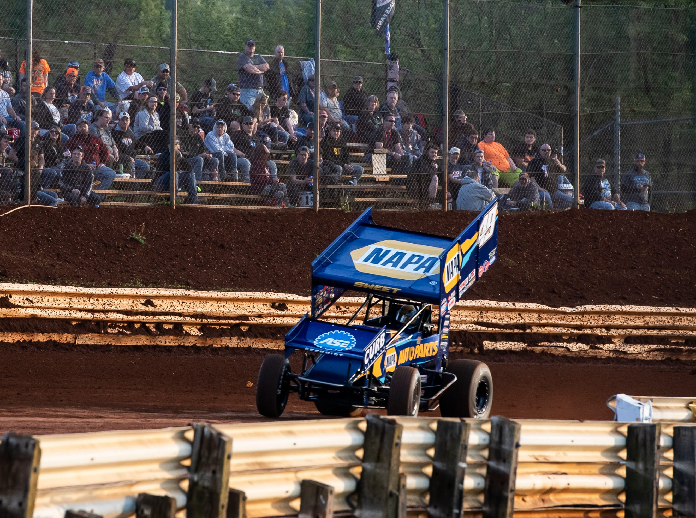 Brad Sweet races in the number 49 car during the World of Outlaws Gettysburg Clash at Lincoln Speedway in Abbottstown on Wednesday, May 15, 2019.
