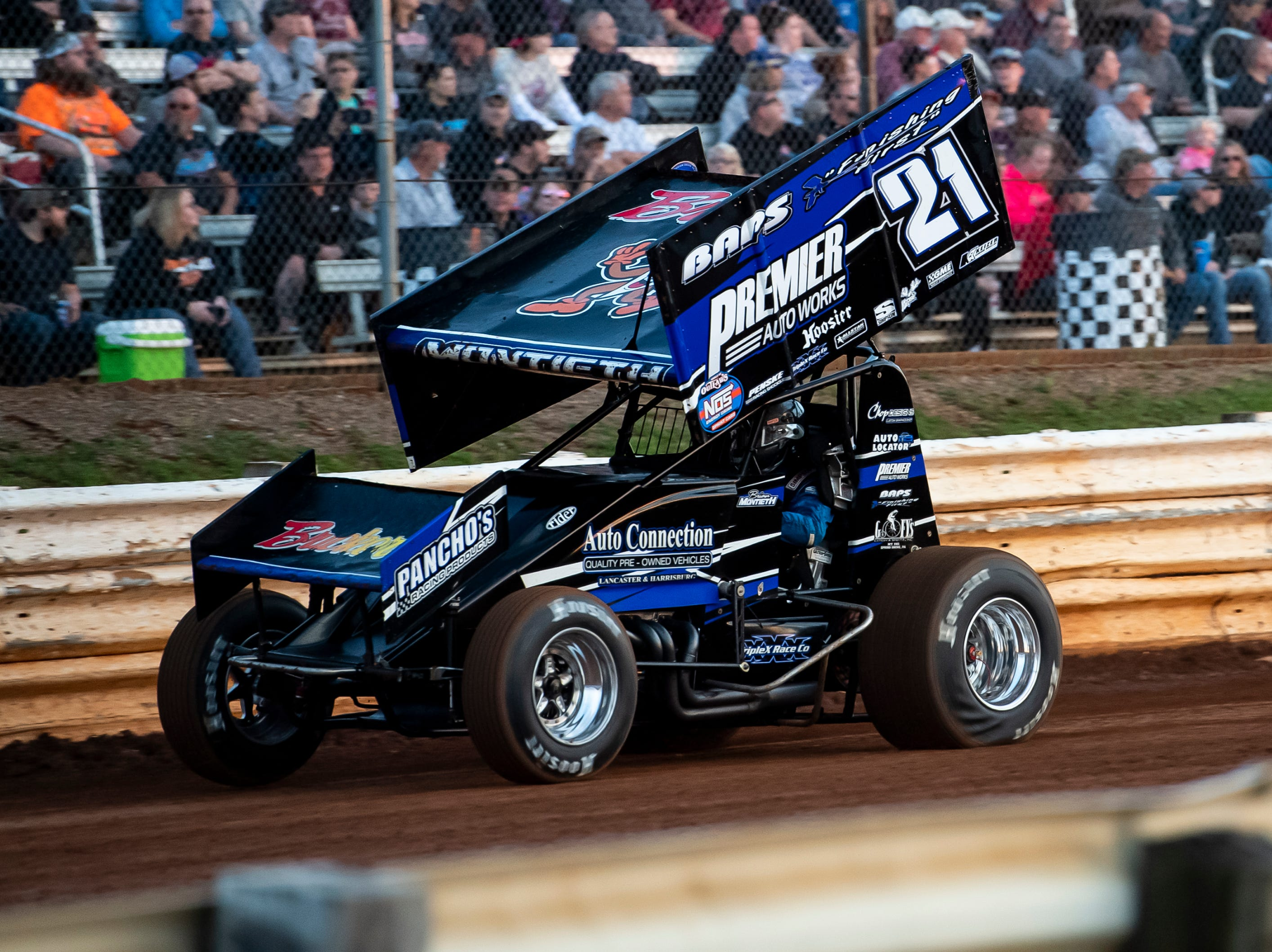 Brian Montieth races in the number 21 car during the World of Outlaws Gettysburg Clash at Lincoln Speedway in Abbottstown on Wednesday, May 15, 2019.