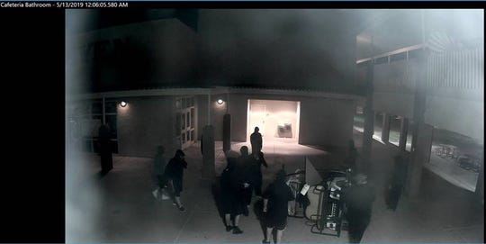 The vandals struck at Buckeye Union High School between 11:55 p.m. on Tuesday and 12:15 a.m. Wednesday, May 15, 2019.