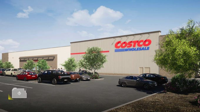 Rendering of new Surprise Costco.