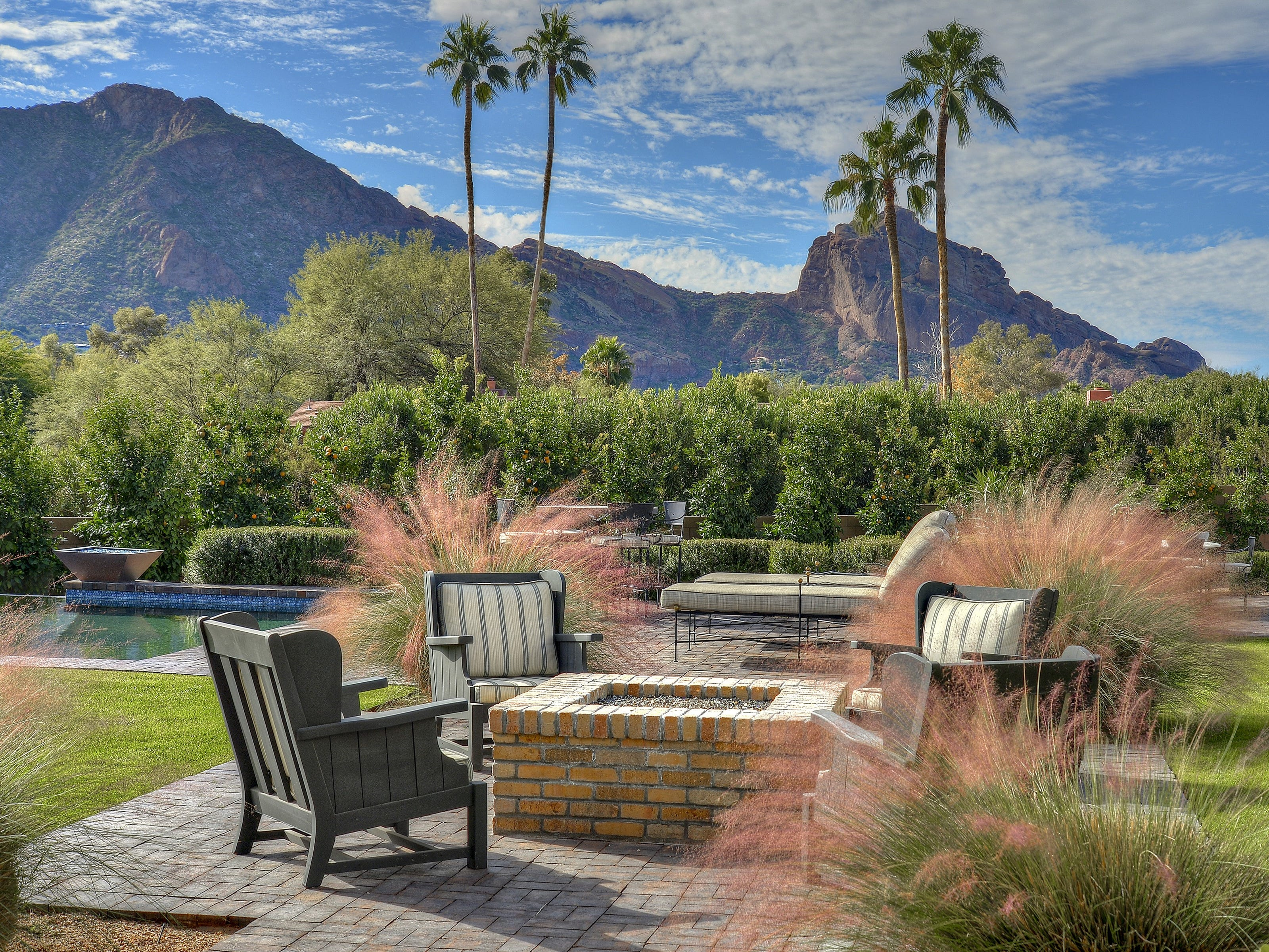 The $4.62M Paradise Valley mansion purchased by Marc Nemer comes with a pool, firepit and spectacular views of Camelback Mountain.