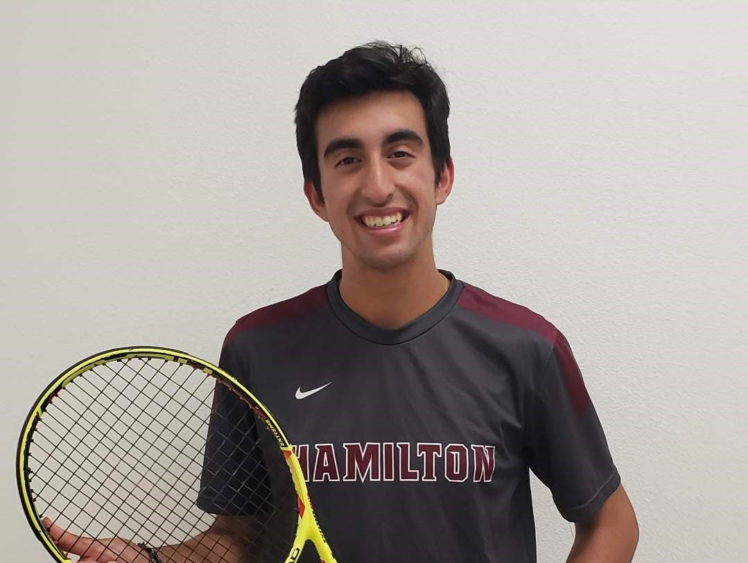 Neal Bhardwaja of Hamilton boys tennis