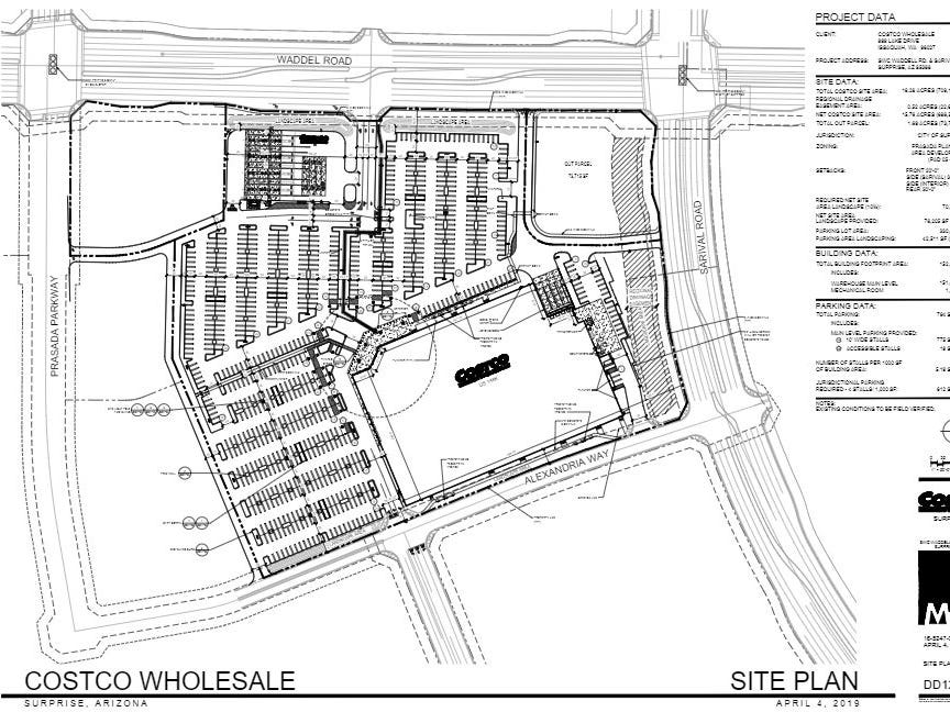 Site plan for new Surprise Costco.