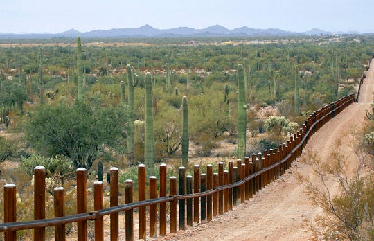 The Homeland Security Department plans to replace the existing border barrier in Arizona's Organ Pipe Cactus National Monument.