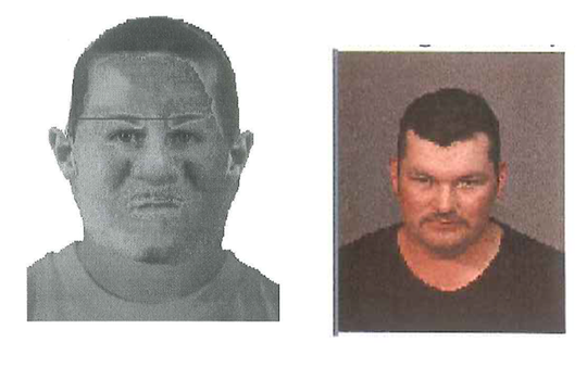 A sketch of the suspect drawn in 2019 (left) next to a composite image taken when Adan Perez-Lopez was arrested on suspicion of DUI-related charges in 2002. DNA samples collected from Perez-Lopez while he was in federal custody in April linked him to two sexual assaults from 1997.