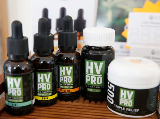 HV Pro CBD products from Hudson Valley CBD for sale at Hudson Valley Healing Center in the Town of Poughkeepsie on May 16, 2019.