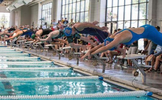 The state  3A/4A swimming championships are Saturday at Carson Aquatic Center.