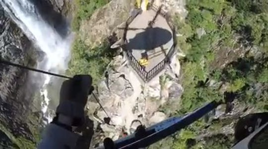 The California HIghway Patrol showed off its helicoper skills with two dramatic rescues
