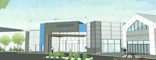 Rendering of proposed Irondequoit community center