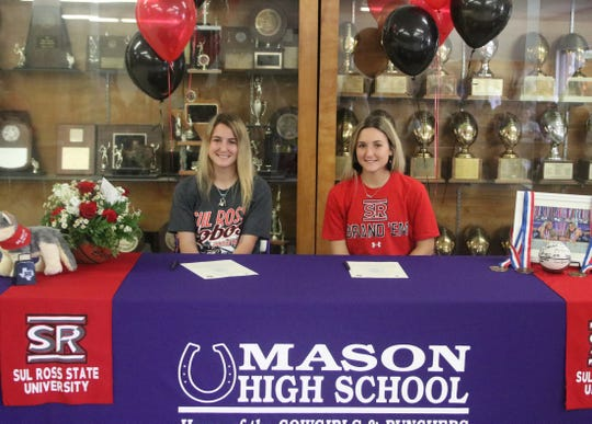 Twin sisters Presley, right, and Peyton Anastas have signed to play basketball at Sul Ross State University in Alpine.