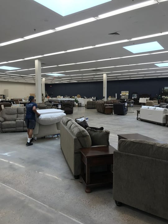 The new Ivan Smith Furniture store on Bert Kouns Industrial Loop will have 50,000 square feet of display space.