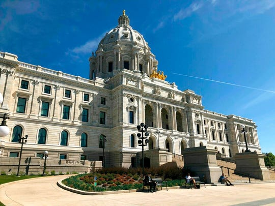 The sun shines on the Minnesota State Capitol in St. Paul, Wednesday, May 15.