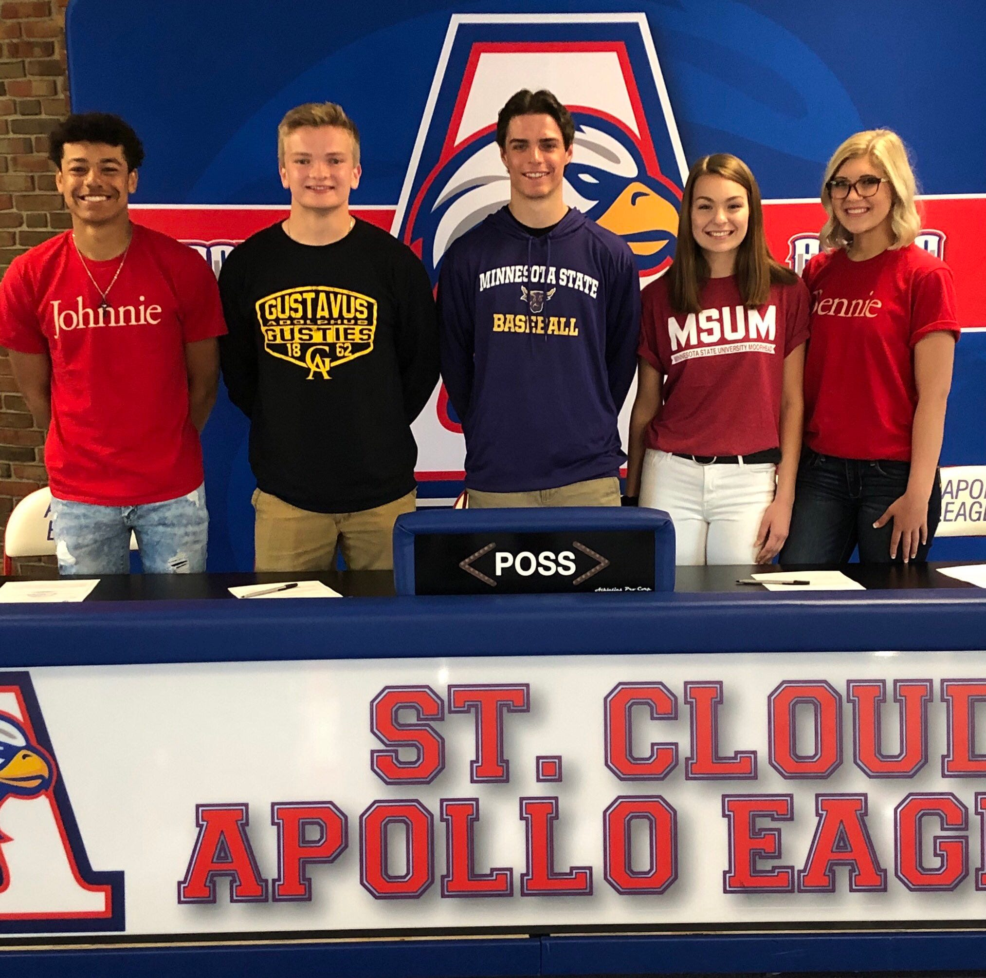 Five Apollo seniors take part in signing ceremony