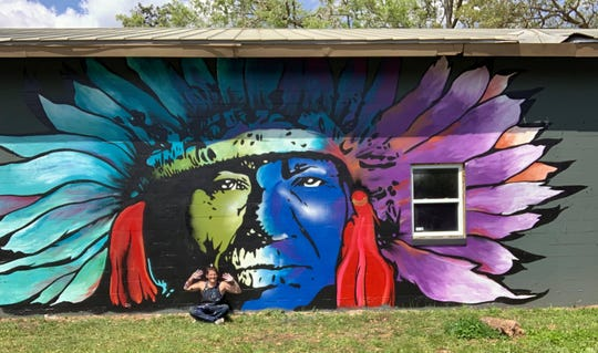 Kollet Probst is most proud of the murals she created at Warrior on the River, 9330 West Tennessee St., and the Chief Osceola she created at the corner of Airport Drive and Eppes Drive.