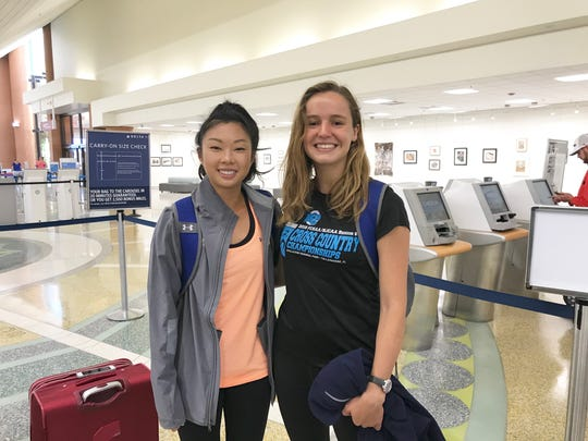 Mia Wiederkehr (left) and Genevieve Printiss will represent TCC at the NJCAA Outdoor Track & Field Championships. This season marks the first year for track and field at their school.