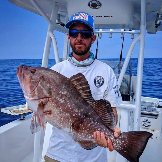 Grouper season is off to a good start for Tom Skelley who caught this red grouper last week with Capt. Justin Ambrosio of Fillet Show charters out of Strike Zone and Sebastian Inlet.