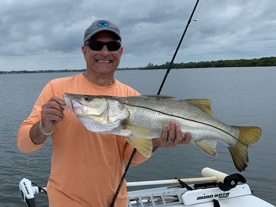 Carl Fribizo caught this 32-inch snook Thursday morning near the powerlines in the Indian River Lagoon in Port St. Lucie.
