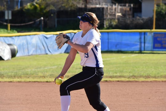 Purdue-bound senior Sydnie Wimpee has struck out 54 batters in four playoff games for the Nordhoff High softball team. The Rangers play Garden Grove-Santiago in the Division 6 championship game on Friday afternoon in Irvine.