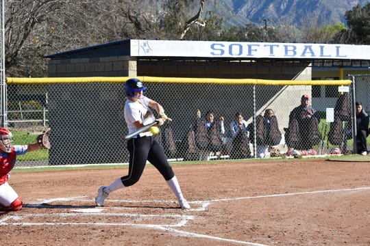 Sydnie Wimpee leads Nordhoff High softball in nearly every offensive category as a senior. The Rangers play Garden Grove-Santiago in the Division 6 championship game on Friday afternoon in Irvine.