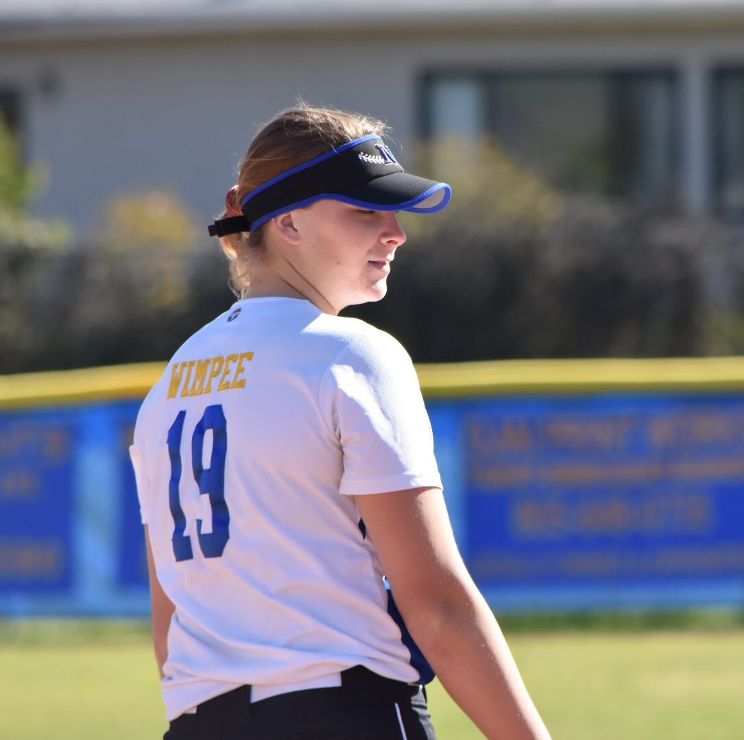 Wimpee has been an intimidating force for Nordhoff High softball
