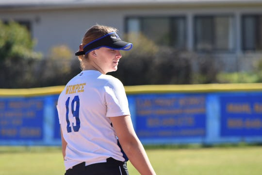 Senior Sydnie Wimpee has powered the Nordhoff High softball team into the Division 6 championship game. The  Rangers play Garden Grove-Santiago on Friday afternoon in Irvine.