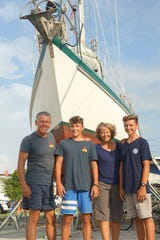 The Rigney family of Ventura sailed around the world in a 51-month journey.  From left to right: Eric, Bryce, Leslie and Trent.