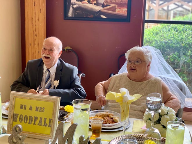 Paul and Linda Woodfall on their wedding day