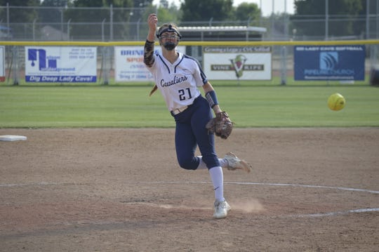 Central Valley Christian starting pitcher Rylie Atherton has tossed 264 strikeouts this season. The Cavaliers will play for a Central Section title on Friday against Foothill-Bakersfield.