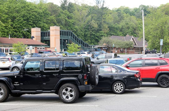 The Mount Kisco train station parking lot May 16, 2019 where there's been talks of apartment buildings being built close-by.