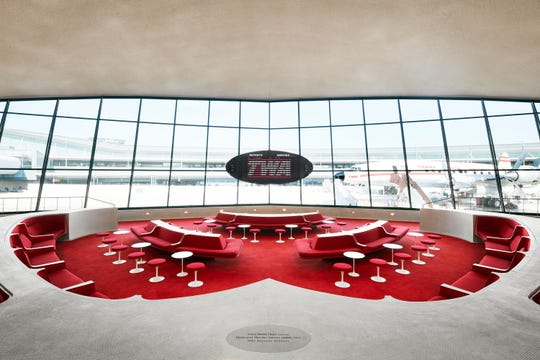 The Sunken Lounge at the TWA Hotel.