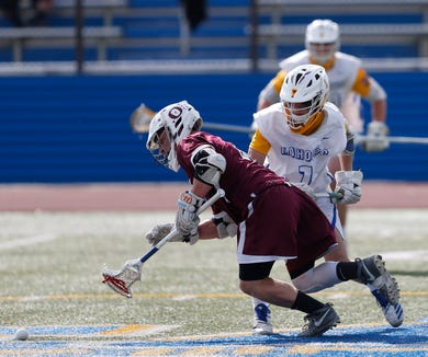 Action from Wednesday's boys lacrosse game between Mahopac and Ossining on May 15, 2019. Mahopac advances over Ossining in this 14-4 win.