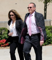 Anthony Marraccini, the former Harrison Police Chief, arrives at the Federal Courthouse in White Plains, to be sentenced for tax evasion, May 16, 2019.