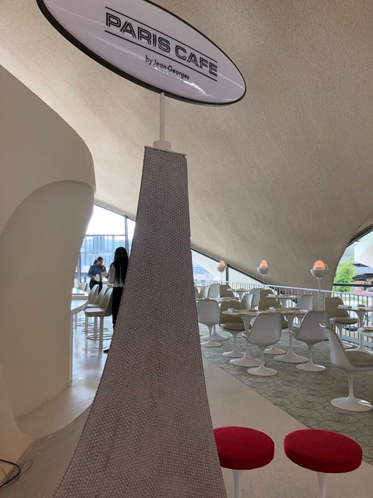 The Paris Cafe at the TWA Hotel.