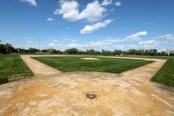 The new baseball field at Mount Vernon High School, photographed May 16, 2019, will be ready for play in time next baseball season. Without a field to play on, the Mount Vernon High School baseball team has had to practice indoors all season and play all their games at opposing schools.