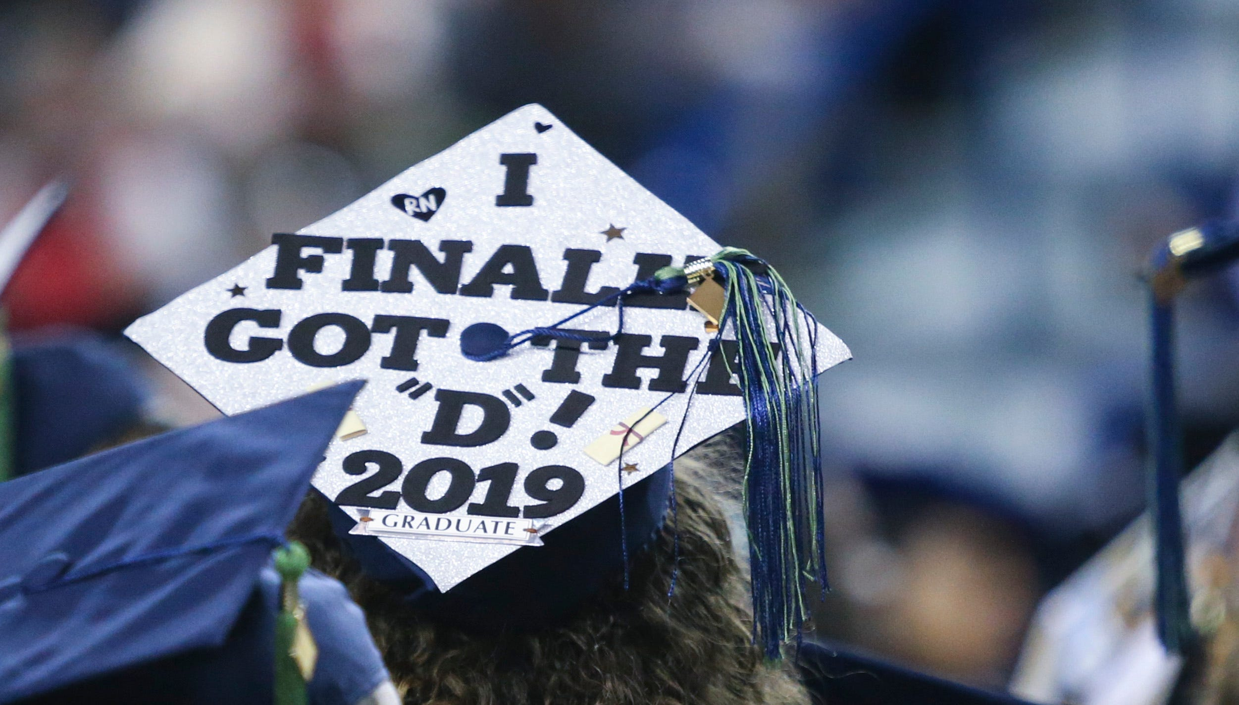 Delaware Technical Community College Stanton and George (Wilmington) campuses graduate nearly 700 students at its 2019 annual commencement at the Bob Carpenter Center Wednesday, May 15, 2019.