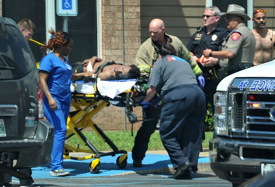 Wichita Falls police investigate a reported shooting at a apartment complex on Professional drive, Thursday afternoon.