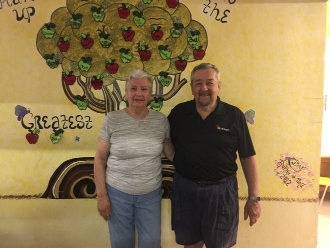 Dave and Barb Leonard, who just celebrated their 60th wedding anniversary, operate A Hand Up, a food pantry partner of the Wichita Falls Area Food Bank, located in Nocona, Texas.