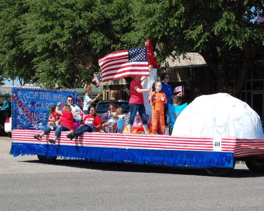 """The Wilbarger General Hospital parade entry """"Out of This World Service since 1969"""" was awarded The Palomino Club Trophy for the most beautiful float. The huge parade had about seventy entries."""