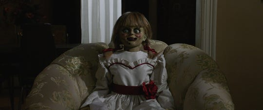 "The possessed doll from ""The Conjuring"" gets her third solo horror movie with ""Annabelle Comes Home."""