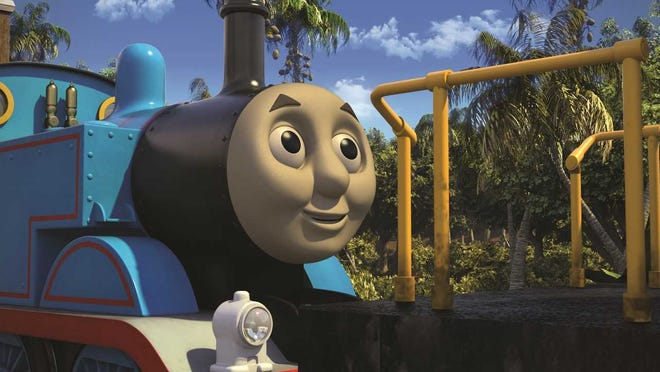 """Thomas is in Brazil for the premiere episode of """"Thomas & Friends"""" on Saturday, May 18."""