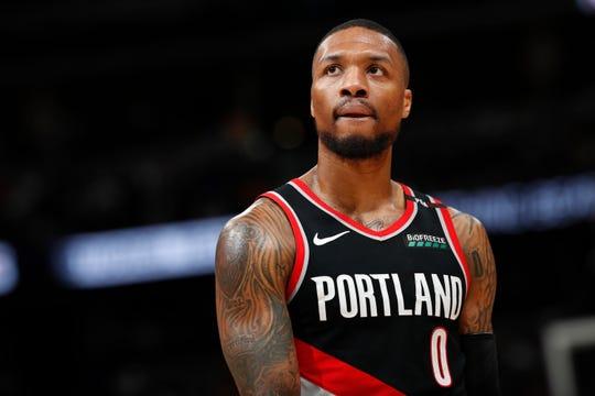 Portland Trail Blazers guard Damian Lillard.